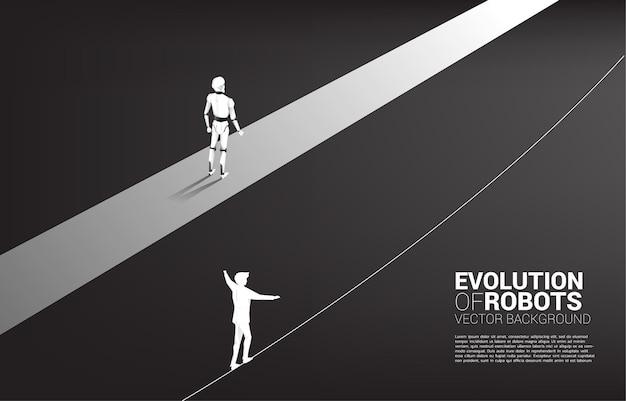 Niet eerlijk racen van mens en robot.