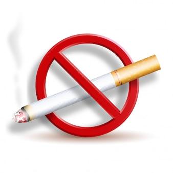 Niet roken 3d-pictogram