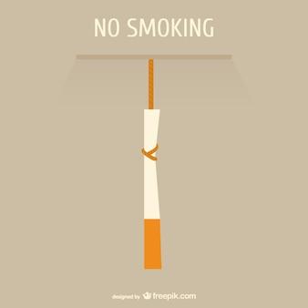 Niet roken begrip vector