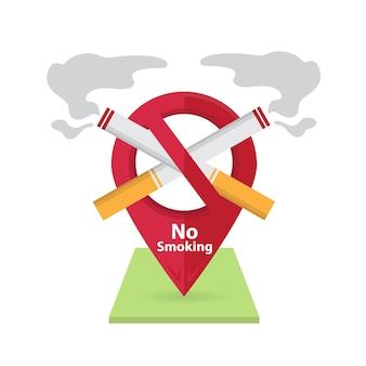 Niet roken en rookruimte roken sigaret brandgevaar pictogram badge