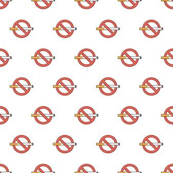 Niet roken teken naadloze patroon. stop met roken thema illustratie