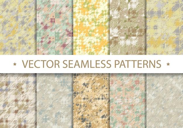 Nieuw abstract naadloos patroon. kunstwerk textuur voor achtergrond. digitale geometrische achtergrond voor afdrukken op papier, webbehang, interieurmodel.