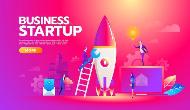 Nieuw businessplan voor het opstarten van een project