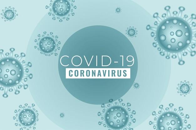 Nieuw coronavirus covid19 verspreidde het ontwerp van een uitbraakachtergrond