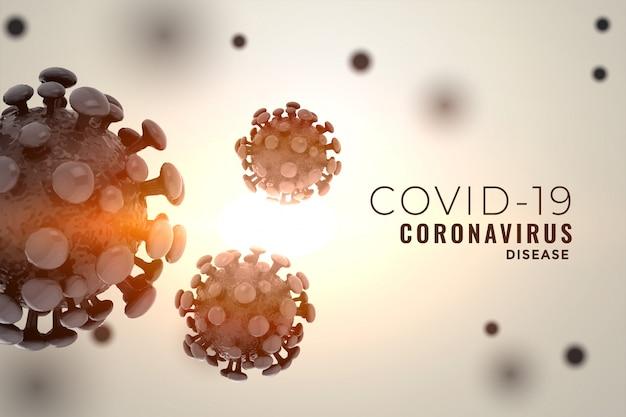 Nieuw covid19 coronavirus dat uitbarstingsontwerp verspreidt als achtergrond