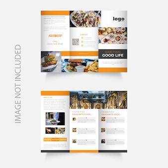 Nieuw driebladig brochuremalplaatje voor restaurants