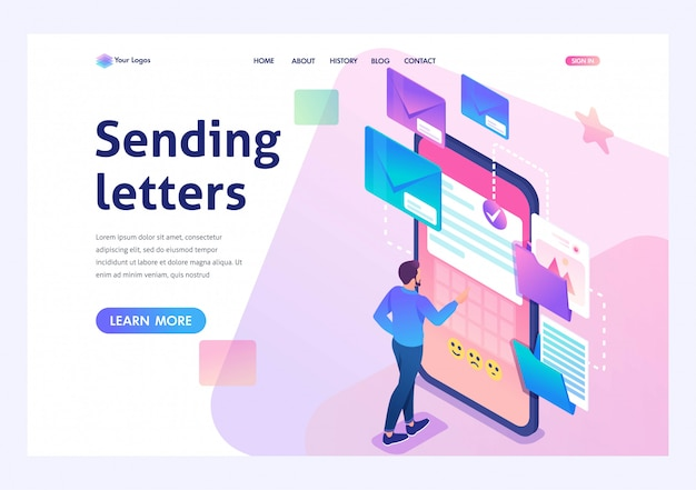 Nieuw e-mailbericht, stuur e-mailmelding. nieuw inkomend bericht