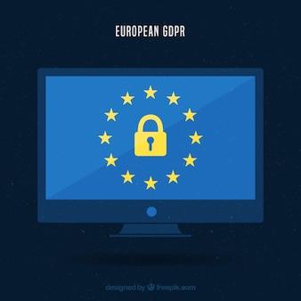 Nieuw europees gdpr concept