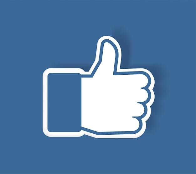 Nieuw facebook like-pictogram
