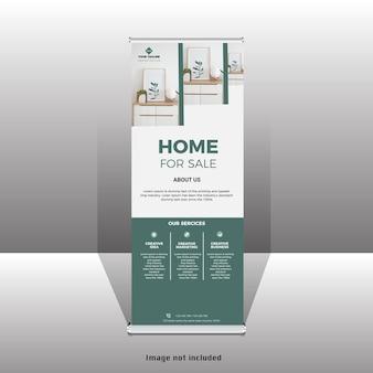 Nieuw huisverkoop oprolbaar staand bannerontwerp