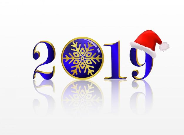 Nieuw jaar 2019 achtergrond