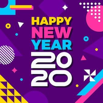 Nieuw jaarconcept in vlak ontwerp