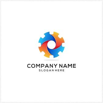Nieuw logo-pictogram kleurrijk