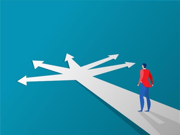 Nieuw manierconcept begin reisavonturen en kansen zakenman op weg buiten