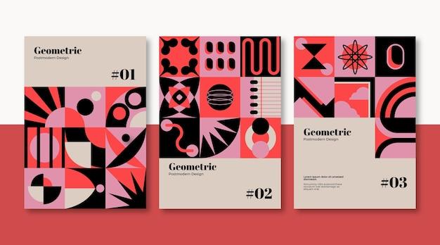 Nieuw modernisme esthetiek zakelijke omslagcollectie