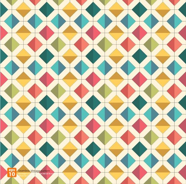 Nieuw naadloos uitstekend kleurrijk patroon
