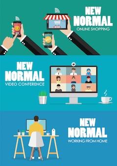 Nieuw normaal levensstijltechnologieconcept