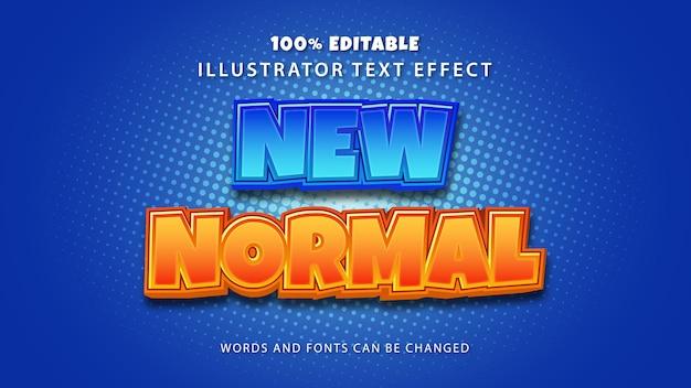 Nieuw normaal tekststijleffect, bewerkbare tekst