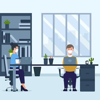 Nieuw normaal voor kantoormensen