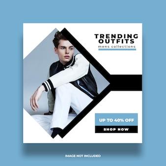 Nieuw pakkend advertentie-media van het instagram sociaal minimaal kleurrijk concept postsjabloon
