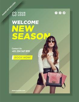 Nieuw seizoen mode poster sjabloonontwerp