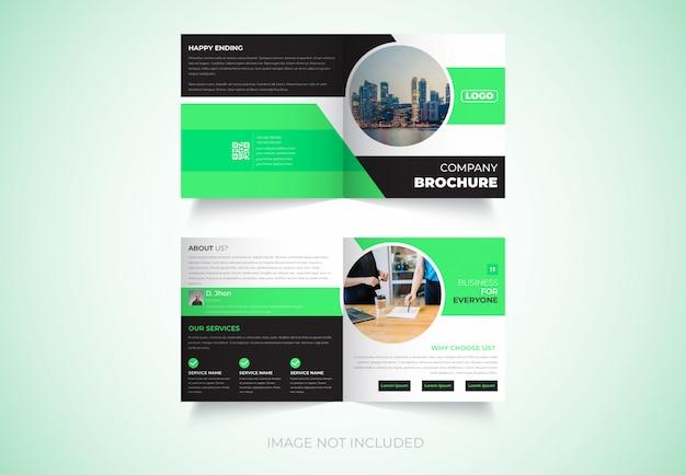 Nieuw, vierkant, tweevoudig brochureontwerp