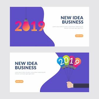 Nieuw zakelijk ideeënconcept