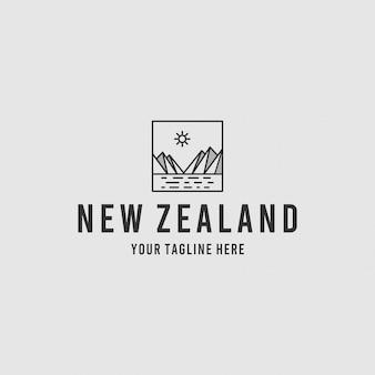Nieuw-zeelandse minimalistische logo-ontwerpinspiratie