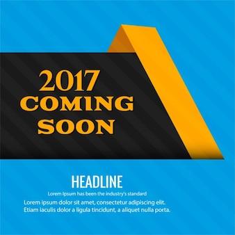Nieuwe 2017 binnenkort achtergrond