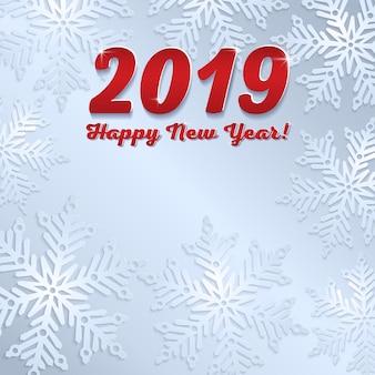 Nieuwe 2019 jaar grijze achtergrond