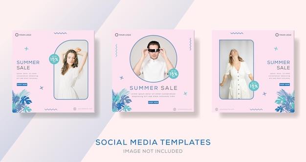 Nieuwe aankomst mode verkoop verkoop zomer banner sjabloon verhalen posten voor sociale media premium Premium Vector