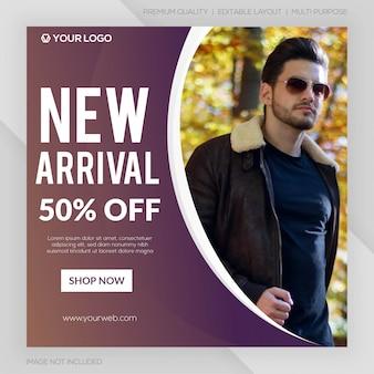 Nieuwe aankomst verkoop instagram post sjabloon premium