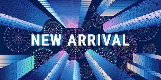 Nieuwe aankomstillustratie, banner