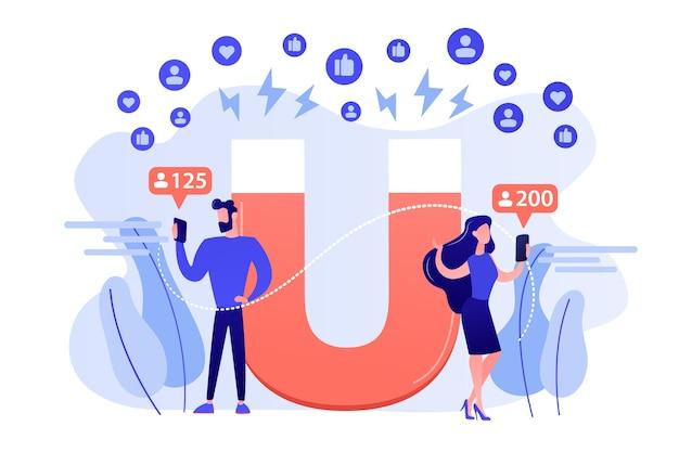 Nieuwe advertentiestrategie voor leads genereren. gericht op de doelgroep