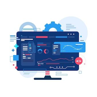 Nieuwe app-ontwikkeling op desktop