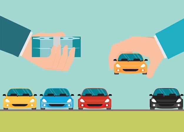Nieuwe auto conceptueel kopen