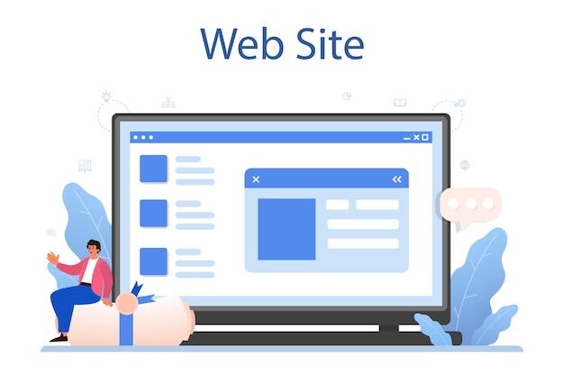 Nieuwe bedrijfsregistratie online service of platform