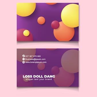 Nieuwe bussines kaartsjabloon moderne trendy abstract