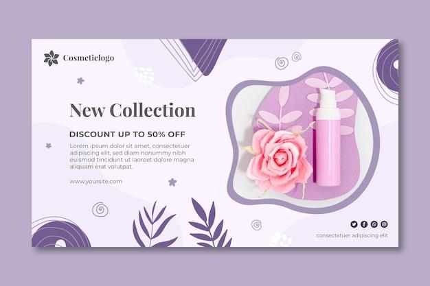 Nieuwe collectie cosmetische sjabloon voor spandoek