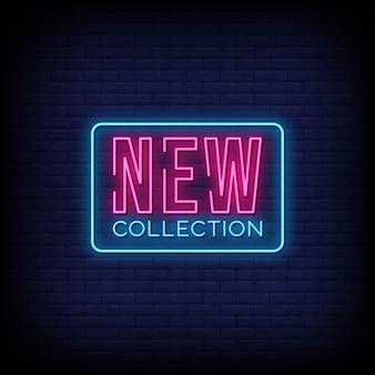 Nieuwe collectie neon uithangbord