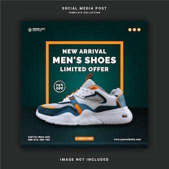 Nieuwe collectie schoenen social media post