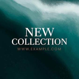 Nieuwe collectie sjabloon vector blauwe oceaangolf