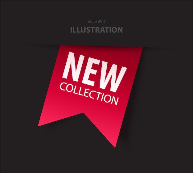 Nieuwe collectie tag. vector