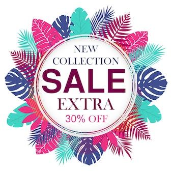 Nieuwe collectie verkoop bannerontwerp voor promotie