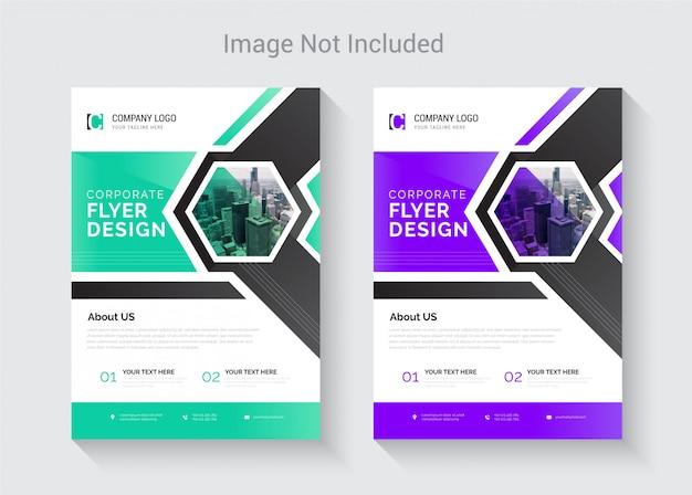 Nieuwe creatieve abstracte flyer ontwerpsjabloon