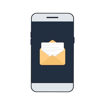 Nieuwe e-mail op het smartphonescherm.
