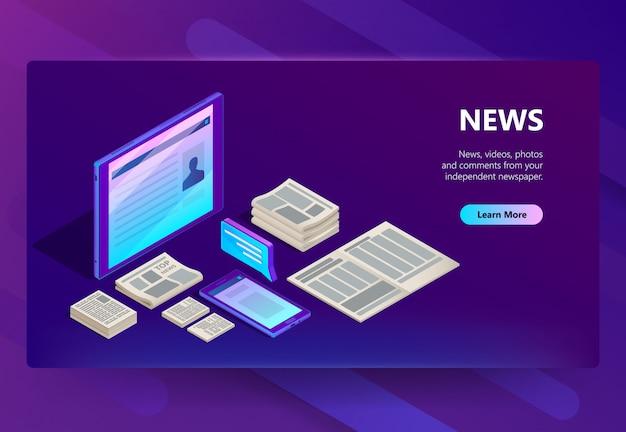 Nieuwe en media-technologie illustratie