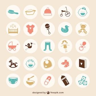 Nieuwe geboren pictogrammen