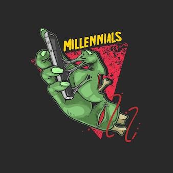 Nieuwe generatie als een zombieillustratie