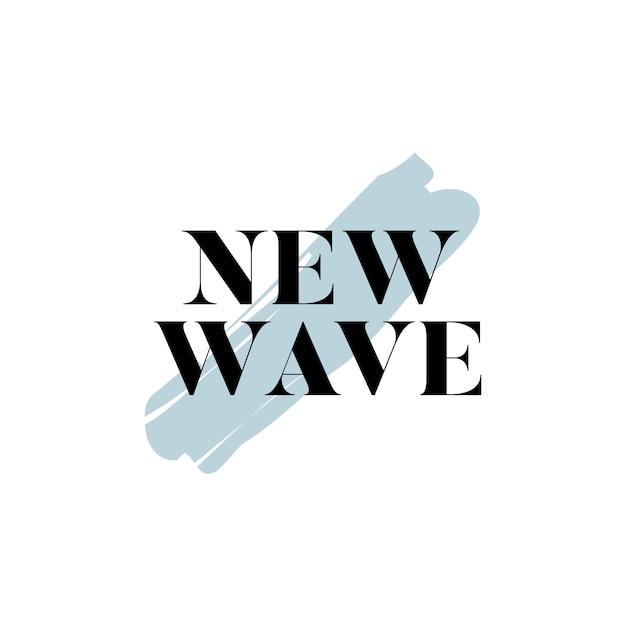 Nieuwe golf typografie logo vector
